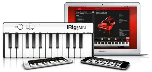 MINI CONTROLADOR MIDI IRIG KEYS MINI 25