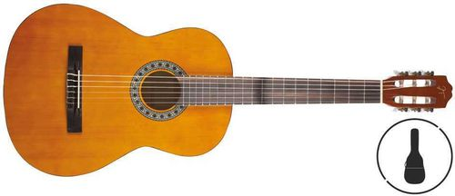 GUITARRA OQAN CLASICA INCLUYE FUNDA QGC15GB